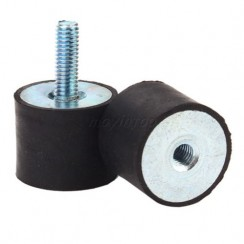 Female Thread M6 Male M6*18 Rubber damper Rubber Mount Size 20mm*20mm  2pcs